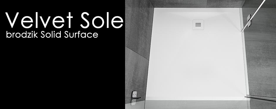 brodziki prysznicowe solid surface velvet sole